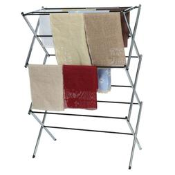 Foldable Clothes Drying Rack Retractable Indoor And Outdoor
