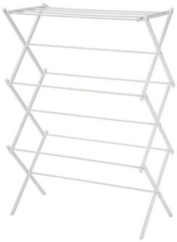 foldable clothing clother garment drying rack white