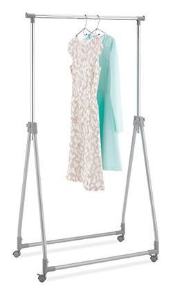 Whitmor Foldable Garment Rack - Rolling Clothes Hanger - Adj