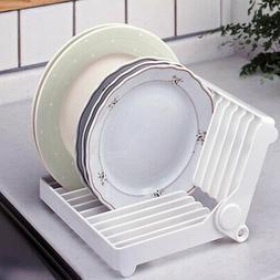 Foldable Dish Drying Rack Holder Plastic Folding Dish Drying