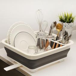 Foldable Dish <font><b>Rack</b></font> <font><b>Kitchen</b><