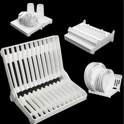 Foldable Dish Plate Organizer Drying Home Plastic Rack Drain