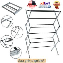Foldable Drying Rack Extendable Telescopic Clothes Dryer For