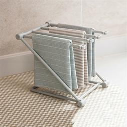 Foldable Drying Rack Shelf Kitchen Towel Cloth Storage Organ