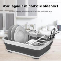Foldable <font><b>Kitchen</b></font> Dish <font><b>Rack</b><