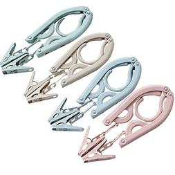 Leagway Foldable Clothes Hangers, Portable Folding Non slip