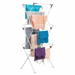mDesign Large Capacity Foldable Laundry Drying Rack - Compac