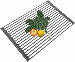 Foldable Over-the-sink Drying Rack for Utensils Vegetables F