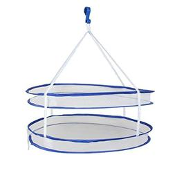 Saim Foldable Portable 2 Layer Tray Tier Hanging Basket Dryi