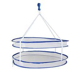 Saim Foldable Portable 2 Layer Tray Tier Hanging Basket Dryi
