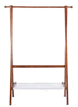 Yaker's collection Foldable Wood Garment Coat Rack With 2 Ho