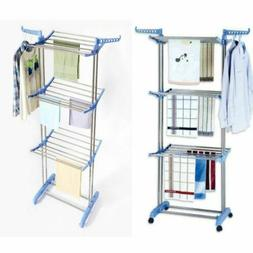 Folding Clothes Airer Dryer Rack In/Outdoor Drying Rail Hang