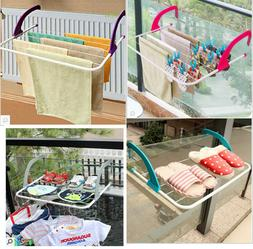 Folding Clothes Drying Rack Airer Laundry Hanging Towel Shoe