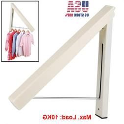 Folding Clothes Hangers Retractable Wall Mounted Drying Rack