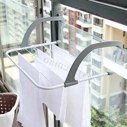 Folding Clothes Rack Drying Laundry Multifunction Hanger Dry