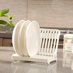 LexBu Folding Dish Rack Dish Drying Rack Holder Utensil Drai