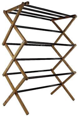 Vanderbilt Home Folding Drying Rack Bamboo & Steel w/ Minor