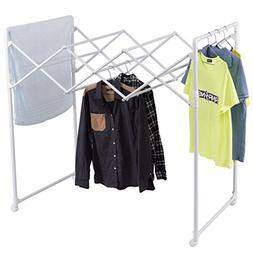 Tangkula Folding Drying Rack Heavy Duty Extendable Blanket R