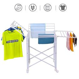 Tangkula Folding Drying Rack Laudry Shelf Heavy Duty Clothes