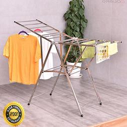 """COLIBROX-- 58"""" Folding Clothes Drying Rack Laundry Dry Hange"""