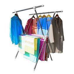 BAOYOUNI Folding Clothes Drying Rack X Shaped Laundry Hanger