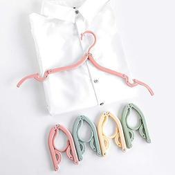 CB 8 Pack Folding Hanger Portable Adult Children Clothes Han