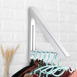 Sweshine Folding Clothes Hanger Wall Mounted Indoor Outdoor