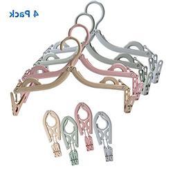 Gigabit 4 Pack Folding Clothes Hangers Portable Clothes Dryi