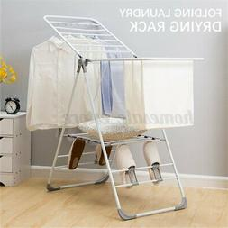 folding iron clothes drying rack indoor outdoor