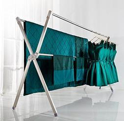 ZY Folding stainless steel drying rack, balcony Clothes bar