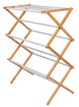BIRDROCK HOME Folding Steel Clothes Drying Rack | 3 Tier | W