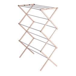 Household Essentials Folding Wood Clothes Drying Rack, Pre a