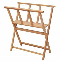 X-Frame Folding Wood Large Art Print Rack for Storages & Sho