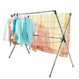 Folding X Shaped Clothes Laundry Drying Stand Rack Hanger Sh
