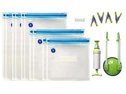MOT Global Food Sous Vide Bags Kit with 1 Bag Rack Clip, 1 H