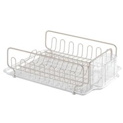 InterDesign Forma Lupe Kitchen Dish Drainer Rack with Tray f