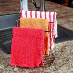 Free Standing Towel Rack 3 Bars Drying Rack Metal Organizer