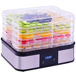 Fruit Vegetable Dryer Timer Temperature Control Food Dehydra