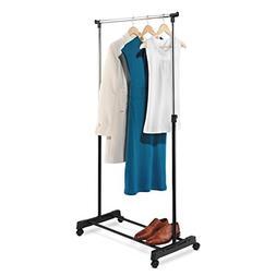 Honey-Can-Do GAR-01122 Adjustable Height Garment Rack, Chrom