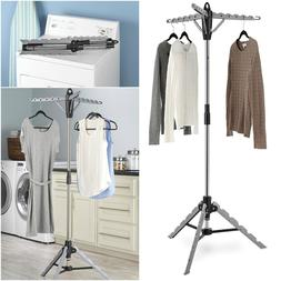 Whitmor Garment & Drying Rack Laundry Clothes Tripod Storage