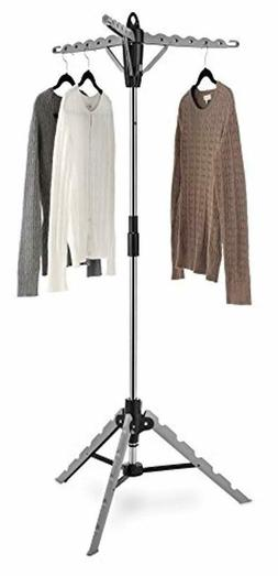 Whitmor Garment Drying Rack Laundry Clothes Tripod Storage H
