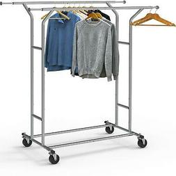 Simple Houseware Clothing Garment Rack Commercial Grade Doub