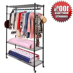 Clothing Closet Storage Garment Racks Clothes Hangers Hangin