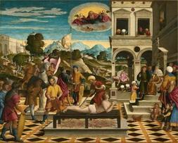 'Girolamo Da Santacroce,Martyrdom Of Saint Lawrence,1550-155
