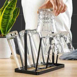 Glass Bottles Drying Rack Six Cups Drain Storage Holder Stan