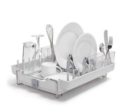 OXO Good Grips Convertible Foldaway Dish Rack, Stainless Ste