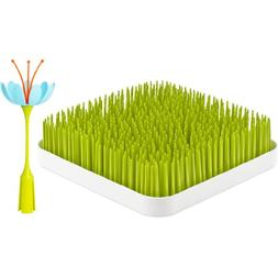 Boon Grass and Stem, Green + Blue/Orange
