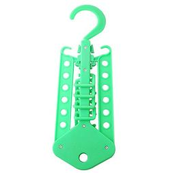 Refaxi Green Clothes Multi Hanger Space Saving Folding Hook