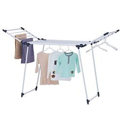 YUBELLES Gullwing Multipurpose Clothes Drying Rack, Dark Gre