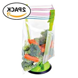 Eutuxia Hands-Free Baggy Rack. Clip Food Storage Bag on Hold